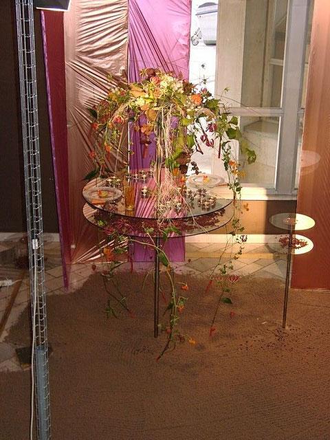 Tischschmuck Bronzene Rose 2001