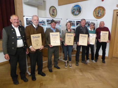 Ehrung für 50 jährige Mitgliedschaft im SV Ohlstadt