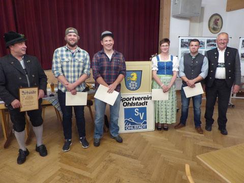 Ehrung für 40 jährige Mitgliedschaft im SV Ohlstadt