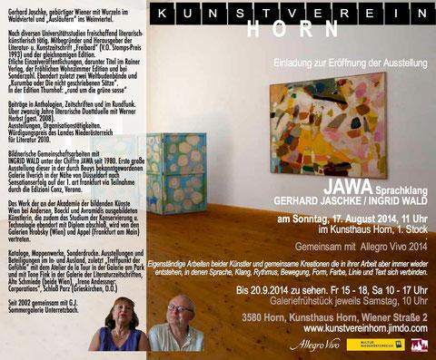 Ausstellungseinladung Jaschke / Wald
