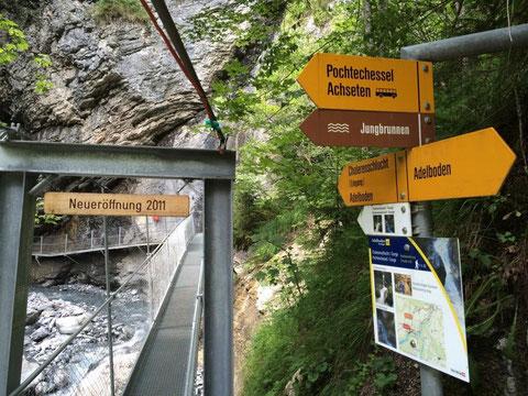 Eingang zur Cholerenschlucht