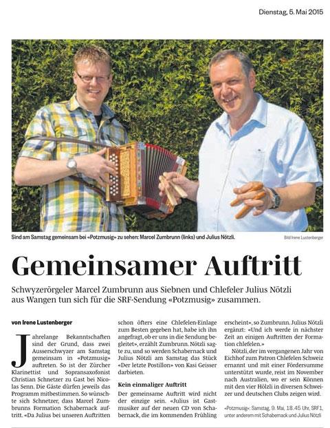 Potz Musig Julius Nötzli dä Nötzli mit dä Chlötzli Auftritt mit Marcel Zumbrunn und Schabernank