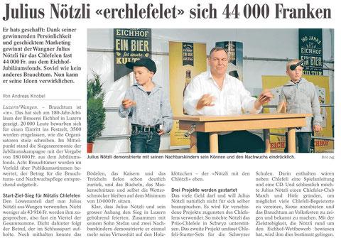 Julius Nötzli @Chlefele @Eichhof Bier @Bier