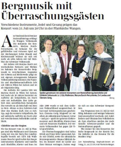 Julius Nötzli Dä Nötzli mit dä Chlötzli Bergmusik Burch Maryna