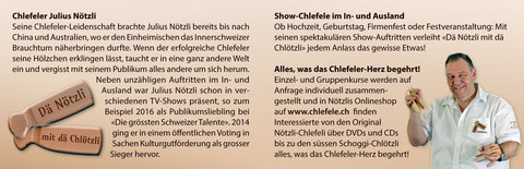 #Visitenkarte #Chlefele #Dä Nötzli mit dä Chlötzli #Julius Nötzli #DGST 2016