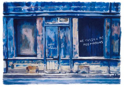 「ダヴィドの家」 版画 21x30.5cm