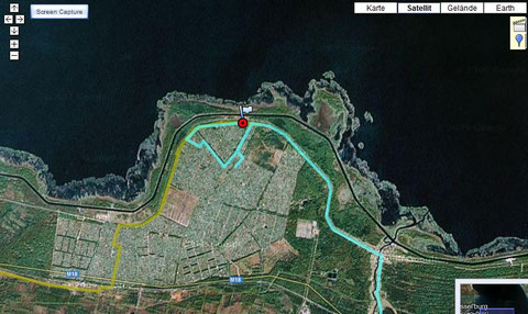 Irrfahrt hinter St.Petersburg (von der M18 abgebogen und dann wieder zurück)