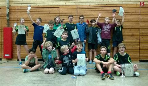 Die Teilnehmer der Vereinsmeisterschaft der Jugend.