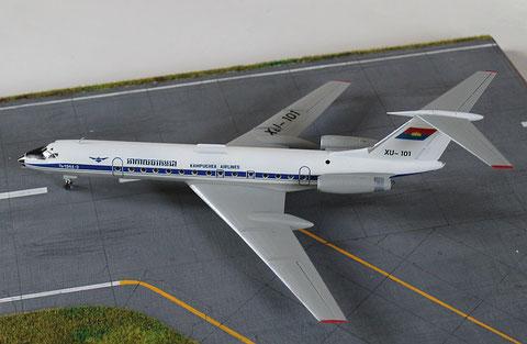 "TU 134A-3  "" XU-101 ""  Kampuchea Airlines   Zvesda  1/144 -4"