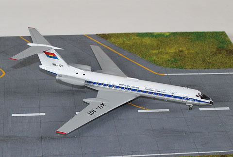 "TU 134A-3  "" XU-101 ""  Kampuchea Airlines   Zvesda  1/144 -1"