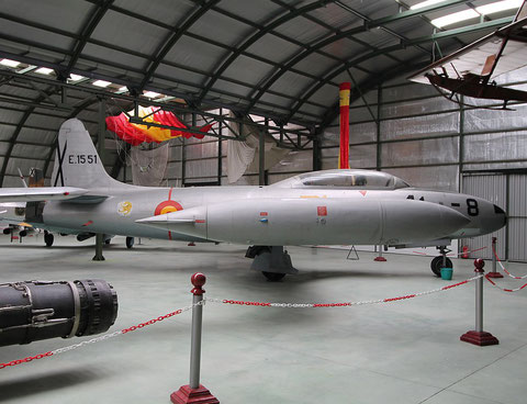 "T 33 Shooting Star  "" E. 15 51 ""  Spanish Air Force -1"