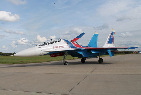 "SU 30SM "" 33 ""  RF-81704 Russian Air Force / Russian Knights -4"