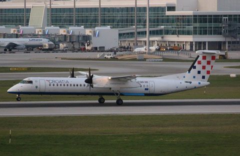 "Dash 8-Q400  "" 9A-CQD "" Croatia Airlines -1"