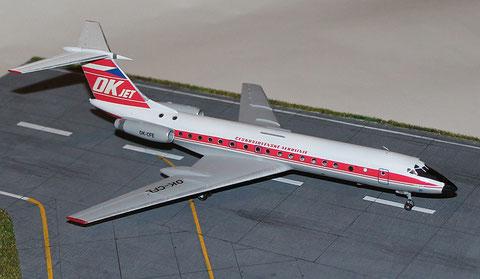"""TU 134A  """" OK-CFE """"    CSA   Zvesda 1/144 -4"""