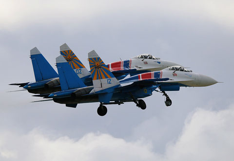 "SU 27P  "" 12 ""  Russian Knights / Russian Air Force -2"