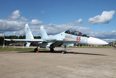 """SU 30SM """" 55 """"  RF-81874  Воздушно-космические силы  ( ВКС ) Россия -1"""