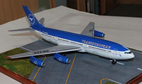 "IL 86 Transeuropean Airlines "" RA-86145 ""  Zvesda 1/144 -7"
