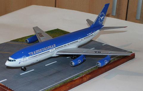 "IL 86 Transeuropean Airlines "" RA-86145 ""  Zvesda 1/144 -1"