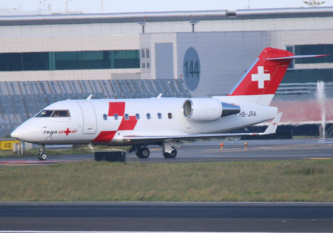 "CL-600-2B16 Challenger 604 "" HB-JRA "" REGA Swiss Air Ambulance -1"