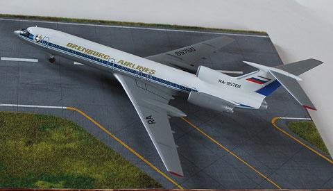 """TU 154M """" RA-85768 """"  Orenburg Airlines   Zvesda  1/144 -4"""
