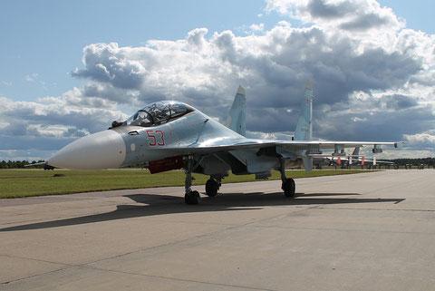 """SU 30SM """" 53 """"  RF-81872  Воздушно-космические силы  ( ВКС ) Россия -1"""