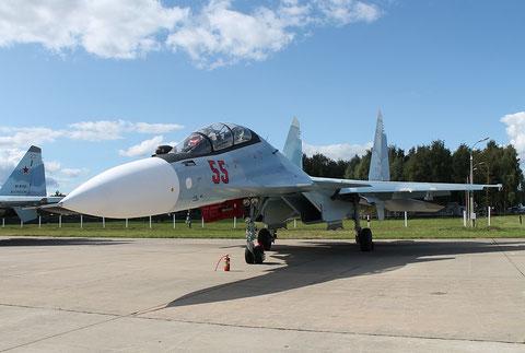 """SU 30SM """" 55 """"  RF-81874  Воздушно-космические силы  ( ВКС ) Россия -2"""