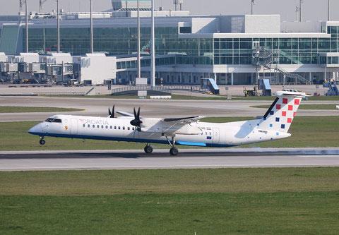 """Dash 8-Q400  """" 9A-CQE """" Croatia Airlines -1"""