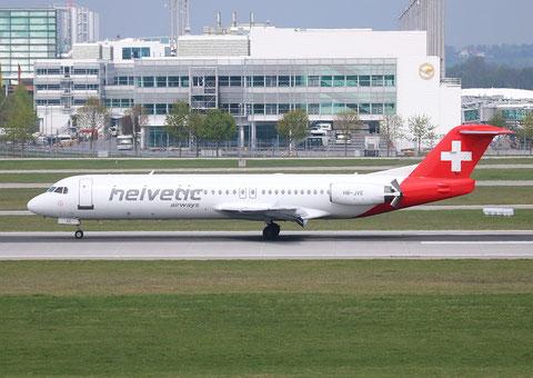 """Fokker 100 """" HB-JVE """" Helvetic -1"""