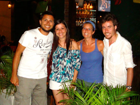 Dean, Liz, Deborah and Liam out in Asuncion, Paraguay