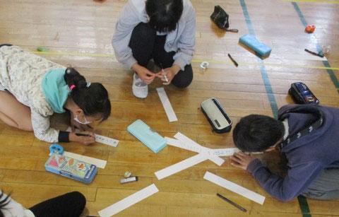 移動教室の実施にあたっての不安や疑問点を「質問事項」として書き出す