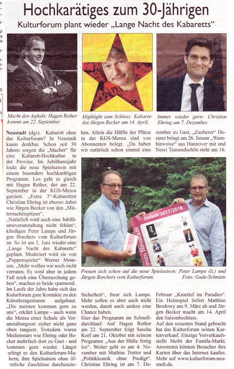 Neustädter Zeitung 29.07.2017