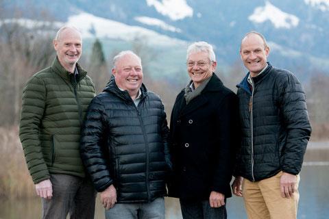 Das Team von bergnatur PUR: von links Denis Büschi, Paul Fuchs, Kurt Lipp und Erich Sterchi