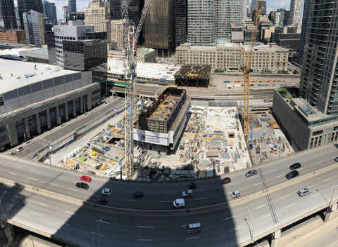 CIBC Square Site Photo by gizmo shared on urbantoronto.ca in July 2018