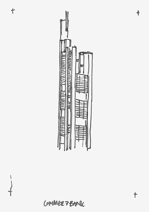 Commerzbank Skyscraper Architecture Sketch Heidi Mergl Architect