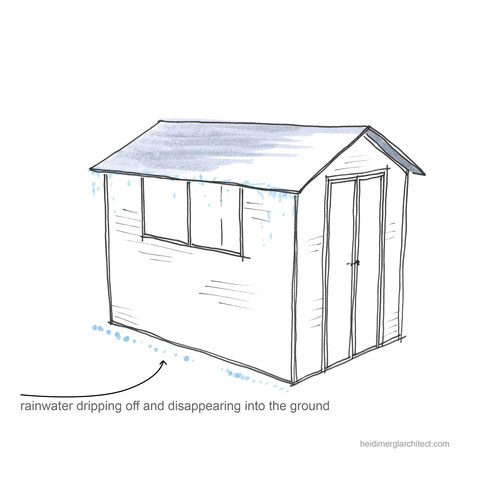 Rainwater collection system inspiration by Heidi Mergl Architect