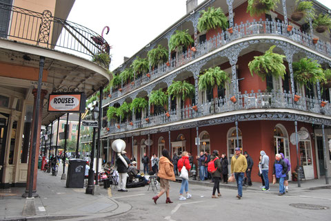 Big Band playing in the streets of the French Quarter photo by Heidi Mergl Architect