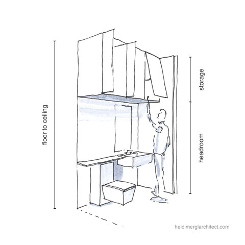 Small Bathroom Design With Clever Storage Solutions By Heidi Mergl Architect