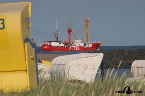 Feuerschiff ELBE 1 auf See vor Cuxhaven