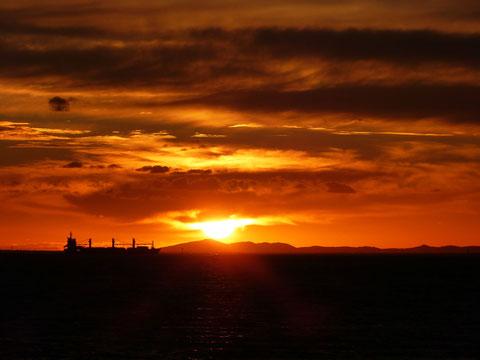 Sonnenuntergang über der Port Phillip Bay