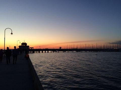 Abendstimmung auf dem St. Kilda-Pier