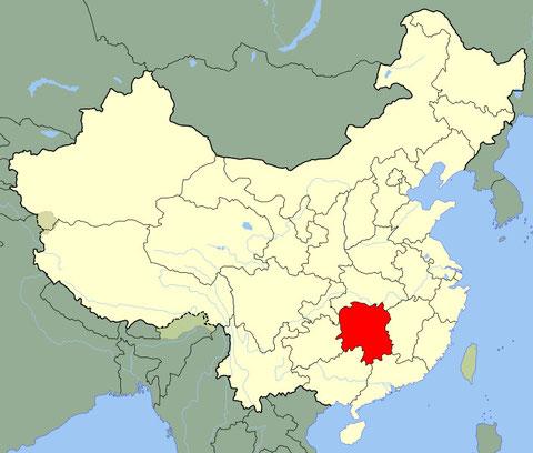 湖南地理位置
