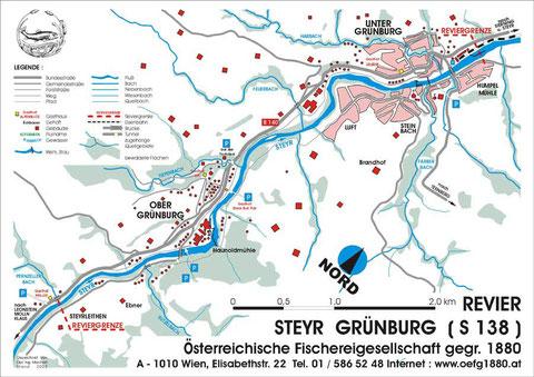 Revierkarte Steyr-Grünburg
