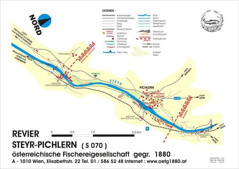 Revierkarte Steyr-Pichlern