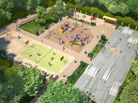 Spielplatz für mobilitätseingeschränkte Kinder