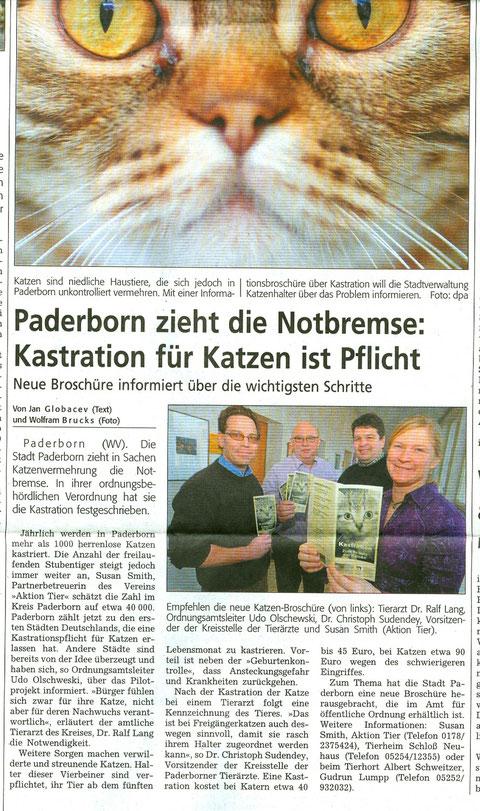 Westfälisches Volksblatt 30.01.2009