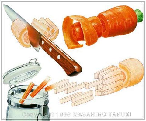 ニンジンの酢漬けの作り方イラスト