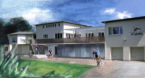 Nach den Plänen von Katja Marhenke und Thomas Lau wurde im Jahr 2006 das Botshaus erweitert. Hier ein 1. Entwurf