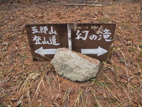 林道曲がり角正面に設置してあるので見落としにくい案内板