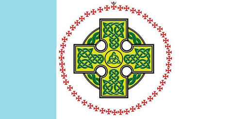 """Flag of """"the round table of the Knights Templar"""" ©"""