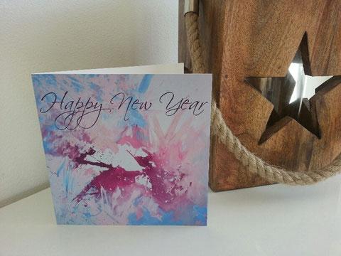 Ice crystal card - Neujahrskarte für farbige Grüsse an Ihre Kunden